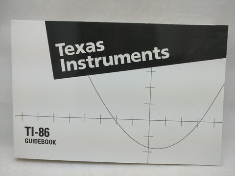 TI-86 Manual Guidebook Texas Instruments Graphing Calculator Book 33