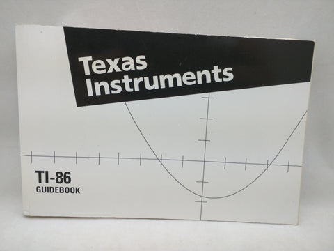 TI-86 Manual Guidebook Texas Instruments Graphing Calculator Book 34
