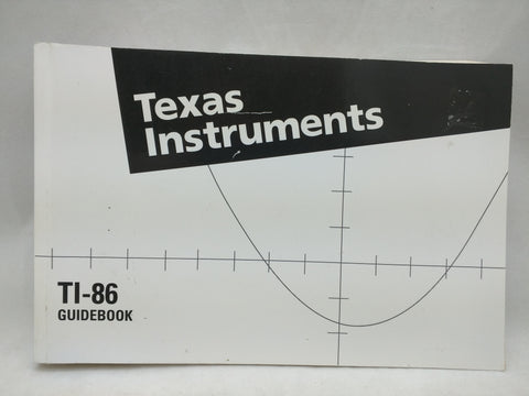 TI-86 Manual Guidebook Texas Instruments Graphing Calculator Book 35