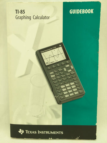 TI-85 Manual Guidebook Texas Instruments Graphing Calculator Book 36
