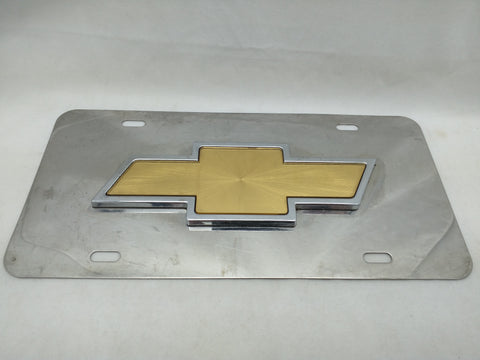 Bowtie Chevy License Plate Emble Truck Logo Chevrolet Chrome Gold