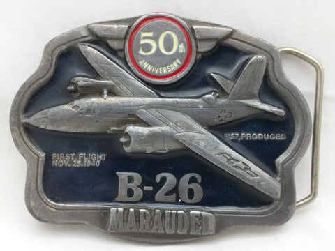 B26 Marauder 50th Anniversary Belt Buckle 1990 Limited Edition Pre Owned