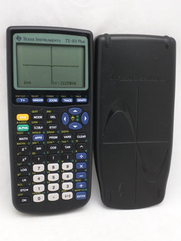 TI-83 Plus Texas Instruments Graphing Calculator w/Cover Tested Working 15
