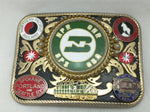 BNSF Burlington Northern Railroad Belt Buckle Chicago Quincy Pins