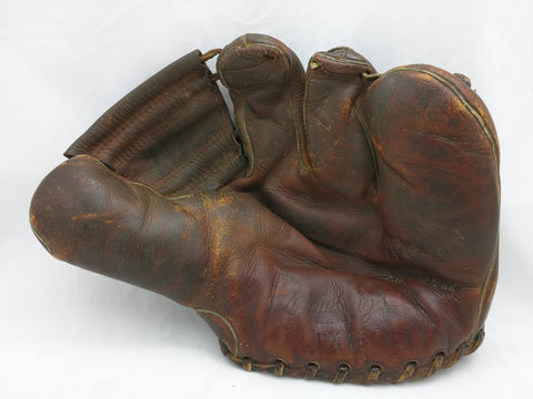 Vintage 50s Rawlings PM16 PLAYMAKER Old Leather Baseball Mitt Glove