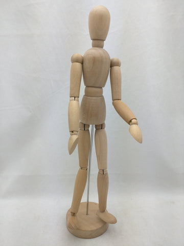 "13"" Gestalta IKEA Poseable Figure Artist Sketch Human Wooden Model 21576"
