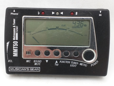 MMT-50 Digital Chromatic Dual Tuner Metronome Musician's Gear