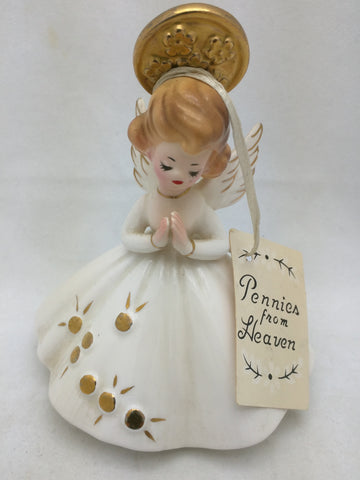 Pennies From Heaven Josef Original Angel Figurine 1950s Praying