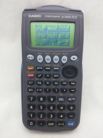 fx-7400G Plus Casio Graphing Calculator w/Cover Tested Working Power Graphic