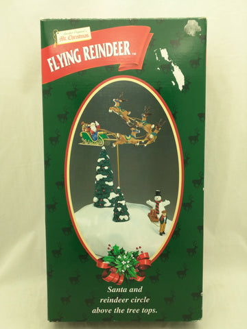 AS-IS Mr. Christmas Flying Reindeer Santa Motion Battery Operated Animated