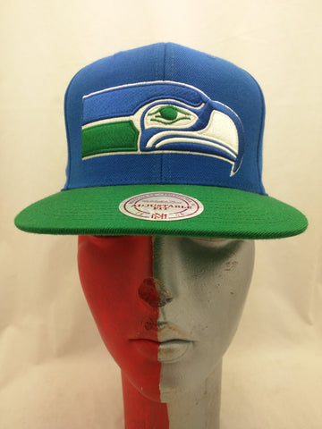 New Mitchell & Ness Seattle Seahawks Hat Cap Adjustable Nostalgic NFL Snapback