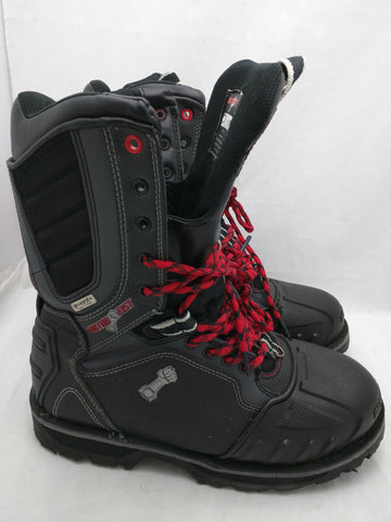 8 Motor Fist Stomper Snowmobile Boots MotorFist Event Fabric Black Gray 20247-1009.W