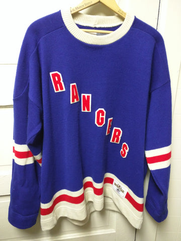 CCM NHL Rangers Heritage Sweater Knit Jersey New York Hockey