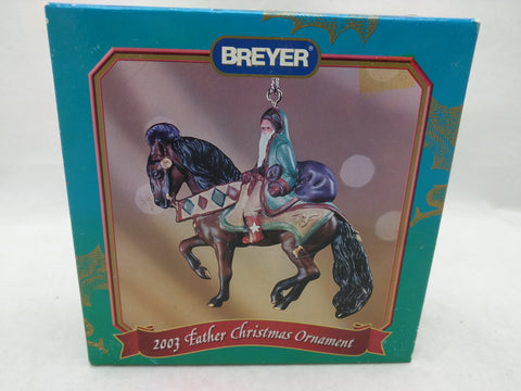 2003 Breyer Father Christmas Horse Ornament 700113 Santa St Nick
