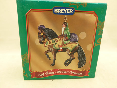 #2 2003 Breyer Father Christmas Horse Ornament 700113 Santa St Nick