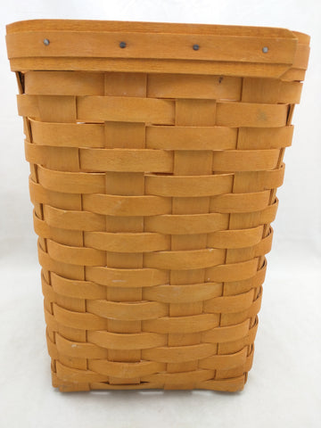 10x7.5 1998 Longaberger Basket Tall Square Small Waste