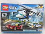 New LEGO City Police High-Speed Chase 60138 Building Toy Cop Car Police Helicopter