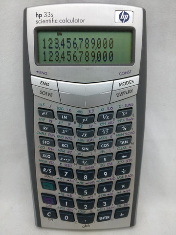 HP 33s Scientific Calculator Working Tested 33 S