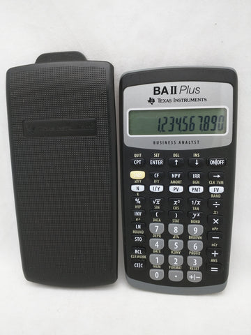 TI BAIIplus Calculator Texas Instruments Business Analyst BA II Plus +