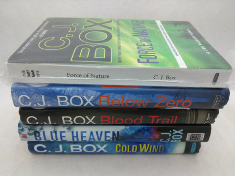 CJ Box Below Zero Blood Trail Cold Wind Blue Heaven 1st HC DJ Lot
