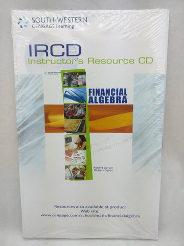 IRCD Financial Algegra Instructor's Resources CD PC MAC Gerver Sgroi
