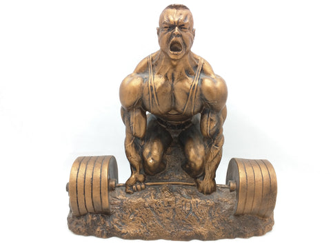 Niels Andersen Art Sculpture MALE BODYBUILDER Bodybuilding Weightlifting Trophy Deadlift