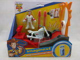 New Duke Caboom Stunt Set  Imaginext Toy Story 4 Motorcycle Jump