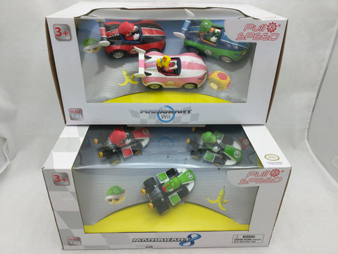 6 New Mario Kart 8 Car Figure Pull Speed Back Action 1:43 Peach Yoshi Figurine Stadlbauer