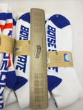 New 4 Pair BSU Tube Socks Boise State 80% Cotton Stripes Retro University Retro Donegal Bay Long White VTG