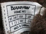 7 Women BearPaw Boots Meadow Sheepskin 606 Chocolate $85 Retail