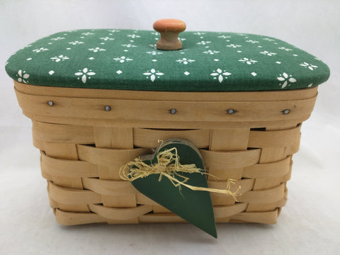 2000 Longaberger Basket 1999 Heart of Dresden Lid Justin 8x6x5