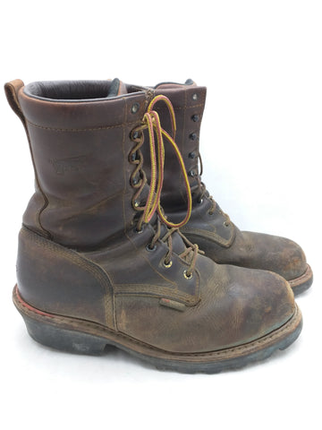 9.5 Safety Toe Red Wing Boots Work Logger Men Lace 4420