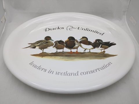 "18"" Oval Ducks Unlimited Platter Leaders in Wetland Conservation"