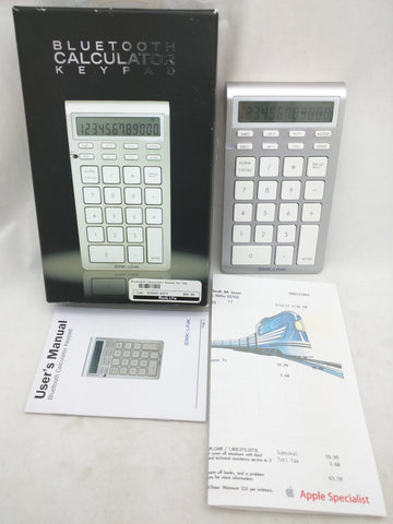 BlueTooth Calculator Keypad SMK Link Mac PC Wireless VP6273  $59.99 MSRP