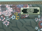 New Kendall Brown Floral Jones New York Zip Around Wallet $45 MSRP