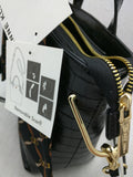 New Chelsea Mini Tote Black Anne Klein Metal Hinge Satchel Scarf $79 MSRP