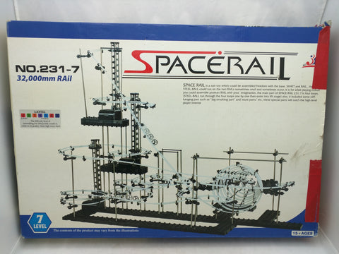 231 Level 7 Spacerail Set $69.95 MSRP Marble Rollercoaster Space Rail Building Construction Toy