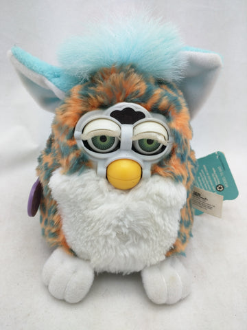 Babies Orange Leopard Blue Mane Furby Small 1999 Vintage Rare 79-940