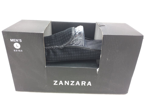 NEW L 9.5 10.5 Zanzara Slipper Slip On House Men Black Soft