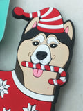 NEW 2 German Shepherd G Force Luggage Tag Akita Husky PVC ID Travel Christmas