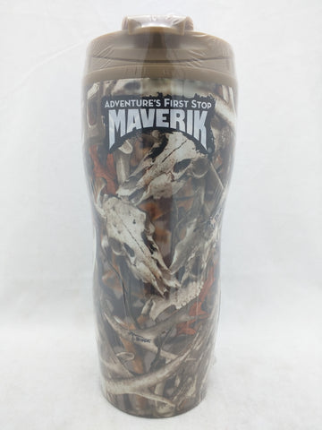 NEW Mavrick Drinking Mug Bonz Next Camo Hunter Elk Deer Horn Stainless Steel Foam Insulated EasyGo Sierra