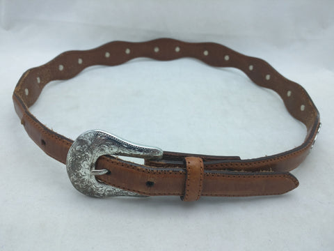 "32"" Justin Girls Ladies Western Belt Leather Cowhide"