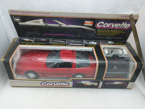 RC Corvette New Bright Wired Remote Control 1988 1984-1996 Box