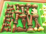 Unique Chess Set Board Wooden Pieces Board Folding Travel Complete