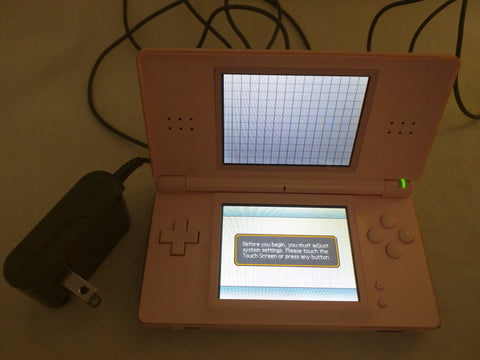 Pink Nintendo DS Lite USG-001 & Power Adapter