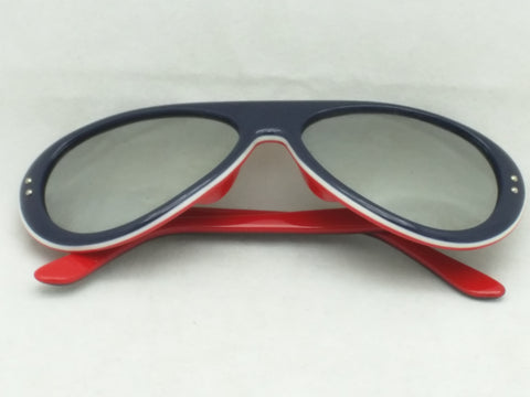 Bolle France by GH Japan Blue Red White  Sunglasses Vintage