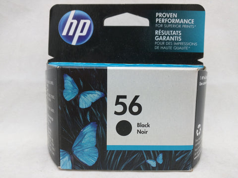 56 Black Jul 2017 EXPIRED HP Ink Injet Printer Cartridge NOS Genuine