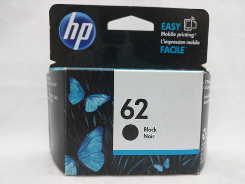 62 Black Jul 2017 EXPIRED HP Ink Injet Printer Cartridge NOS Genuine