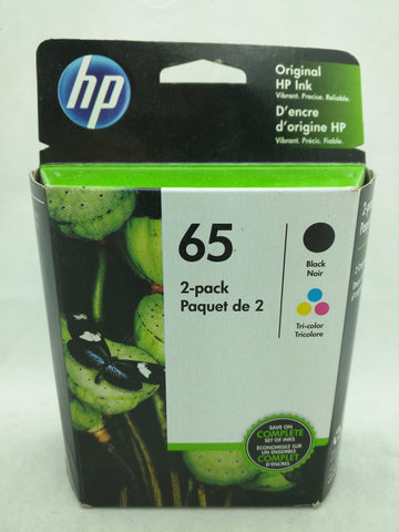65 Black Tri-Color May 2020 EXPIRED HP Ink Injet Printer Cartridge NOS Genuine