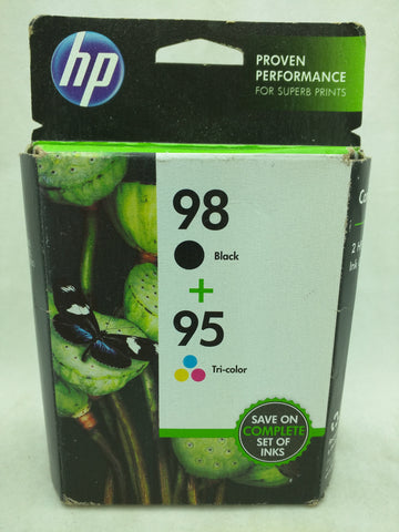 98 Black 95 Tri-Color Oct 2017 EXPIRED HP Ink Injet Printer Cartridge NOS Genuine